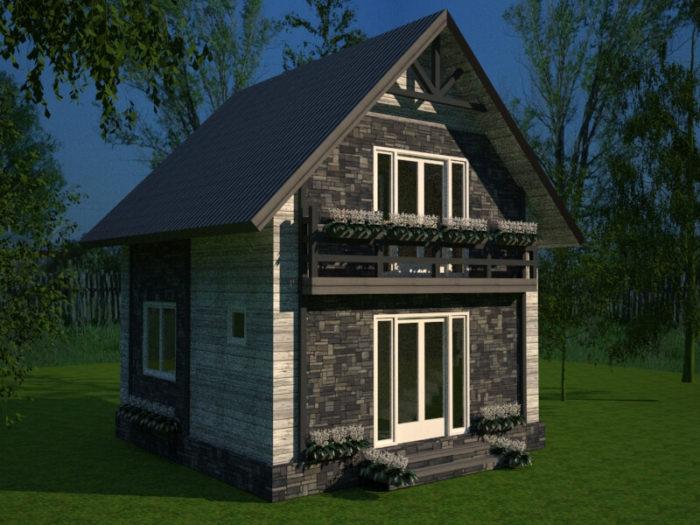 Проект дома 6х6