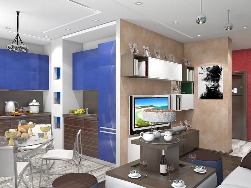 Дизайн интерьера и ремонт 2-комнатной квартиры