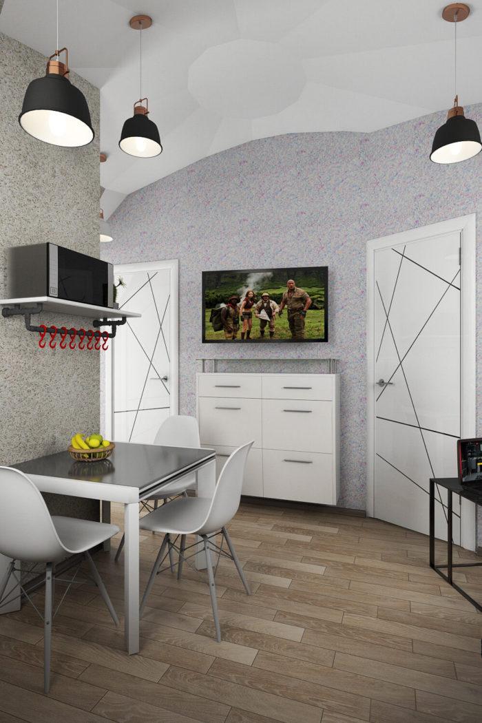 Дизайн интерьера Купольного дома 25 кв.м