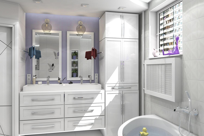 Дизайн Ванной комнаты Неоклассика