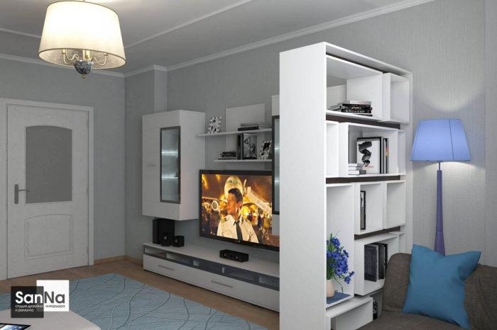 Дизайн интерьера Гостиной комнаты 18 кв м