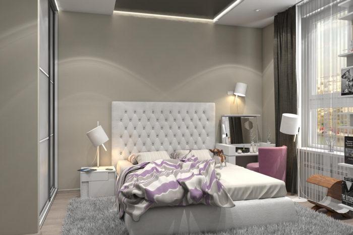Дизайн интерьера двухкомнатной квартиры 60 м2