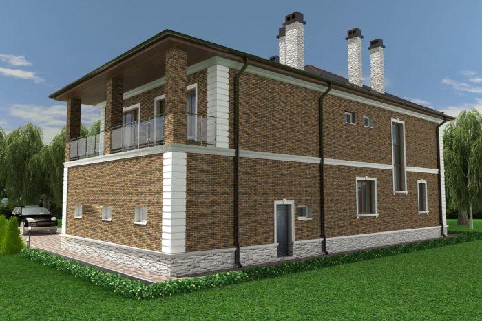 Проект дома10х12м Баварская кладка
