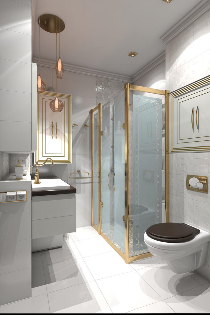 Дизайн Ванной в неоклассическом стиле