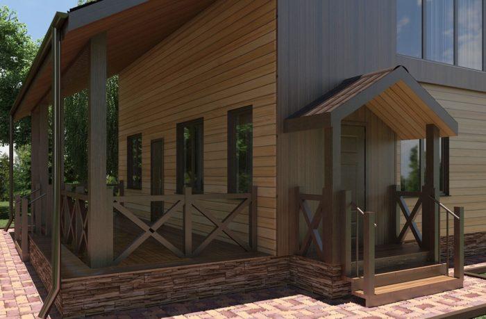 Проект каркасного дома8х12м