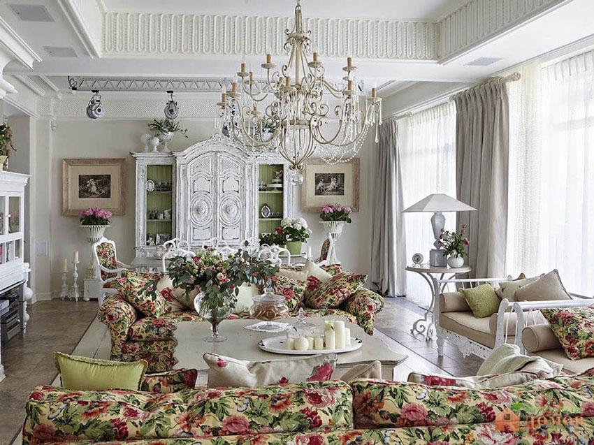 Стиль прованс в интерьере частного дома