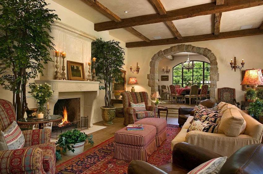 Средиземноморский стиль в интерьере загородного дома