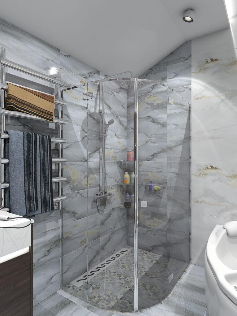 3D дизайн проект интерьера таунхауса
