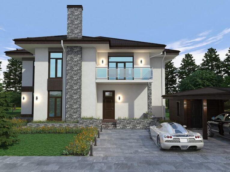 Дизайн экстерьера частного дома